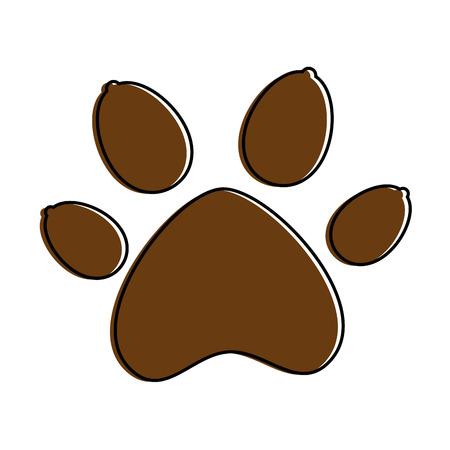 Paw mascot isolated icon vector illustration design Illustration