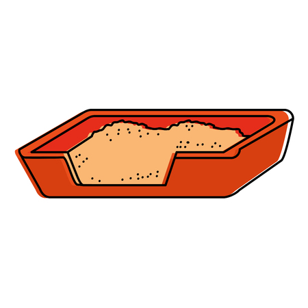 Cat sand box icon vector illustration design