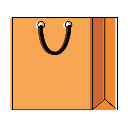 Paper shopping bag icon vector illustration design