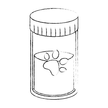 Transparent pot with powder vector illustration design Ilustração