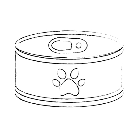 tuna can isolated icon vector illustration design Ilustração