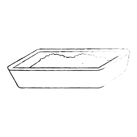 cat sand box icon vector illustration design Stock Vector - 99916249