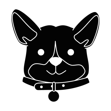A cute dog breed head character vector illustration design