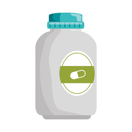 A  bottle  OF drugs icon vector illustration design Illustration