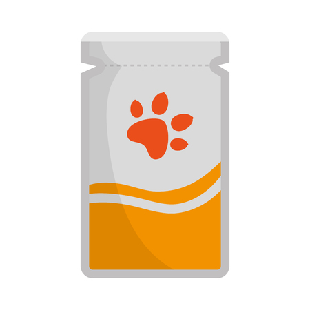 A mascot product bottle with paw vector illustration design