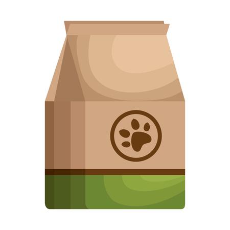 A pet shop paper bag vector illustration design