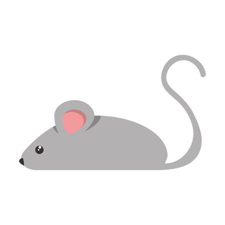 A little mouse isolated icon vector illustration design