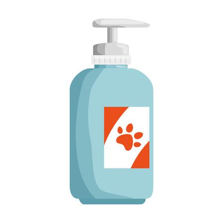 Shampoo for mascots in plastic bottle vector illustration design 일러스트