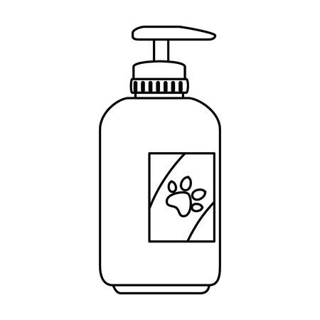 Shampoo für Maskottchen in Plastikflasche Vektor-Illustration-design Standard-Bild - 99559045
