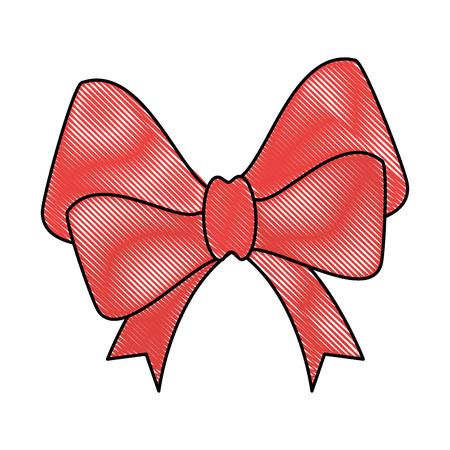 ribbon bow elegant icon vector illustration design Illustration