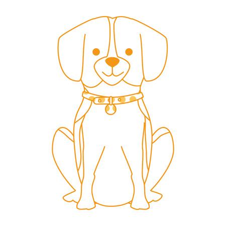 Cute dog breed character vector illustration design Illustration