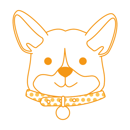 cute dog breed head character vector illustration design