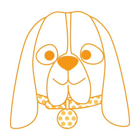 cute dog breed head character vector illustration design Stock Illustration - 99559372