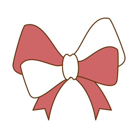 ribbon bow elegant icon vector illustration design Banco de Imagens - 99559502