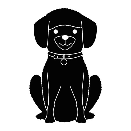 Cute dog breed character vector illustration design Ilustrace