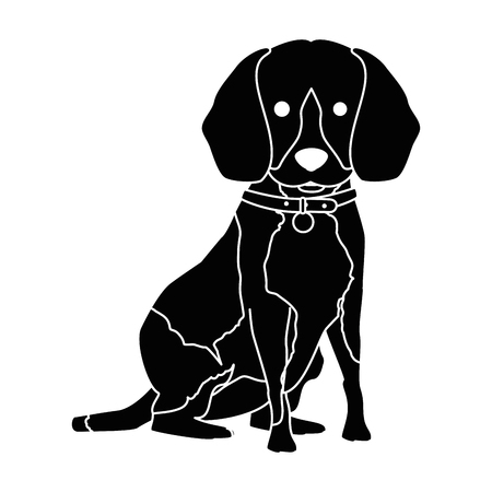 cute dog breed character vector illustration design
