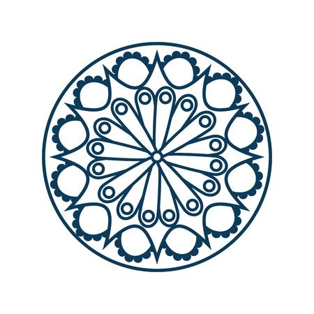 monochrome and circular mandala vector illustration design