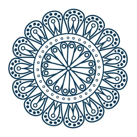 Monochrom und kreisförmige Mandala Vektor-Illustration Design Standard-Bild - 99559694