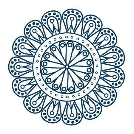 monochrome and circular mandala vector illustration design Banco de Imagens - 99559694