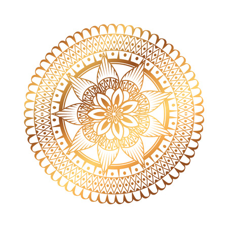 golden and circular mandala vector illustration design