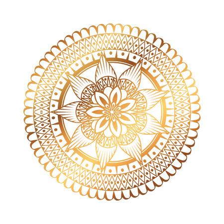 golden and circular mandala vector illustration design