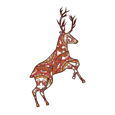 Reindeer with mandala pattern vector illustration design Imagens - 99555379