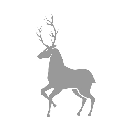 reindeer silhouette isolated icon vector illustration design Stock Photo