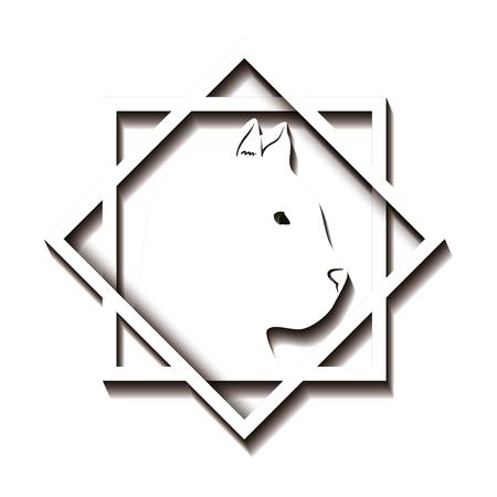 cougar profile emblem icon vector illustration design Illustration