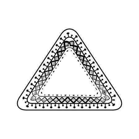 Monochrome and triangular mandala vector illustration design. Illustration