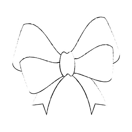 ribbon bow elegant icon vector illustration design Stock Photo