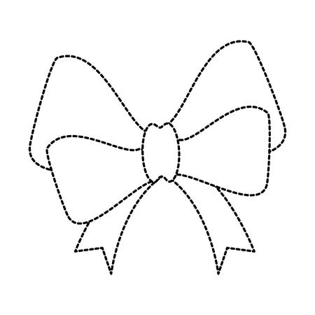 ribbon bow elegant icon vector illustration design Banco de Imagens - 99635903