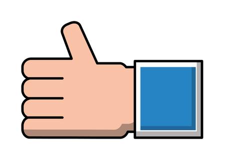 hand human like isolated icon vector illustration design
