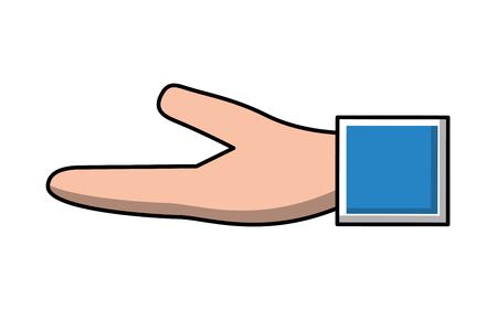 hand human receiving isolated icon vector illustration design