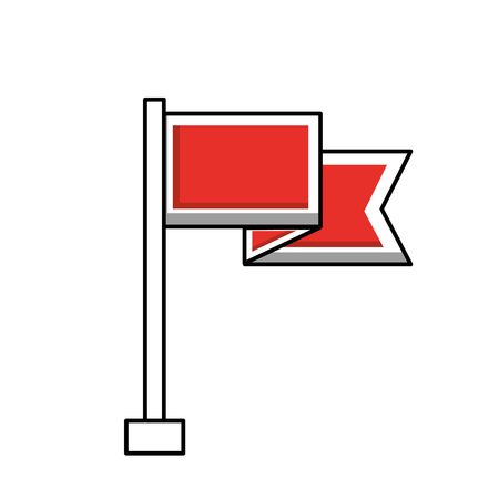 flag marker isolated icon vector illustration design