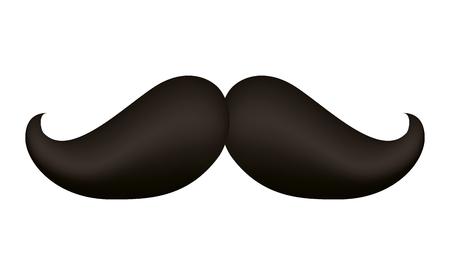 Hipster mustache accessory icon vector illustration design Stock Illustratie