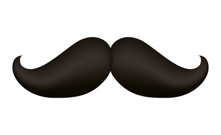 Hipster mustache accessory icon vector illustration design Vettoriali