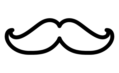hipster mustache accessory icon vector illustration design Stok Fotoğraf - 99583038