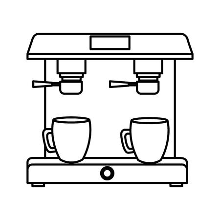 coffee cups machine dispenser vector illustration design Illustration