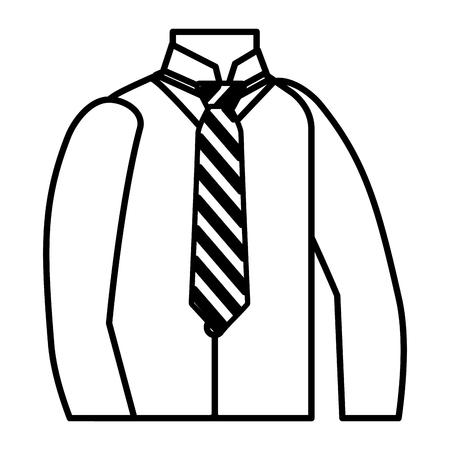 human torso elegant with tie vector illustration design Ilustração