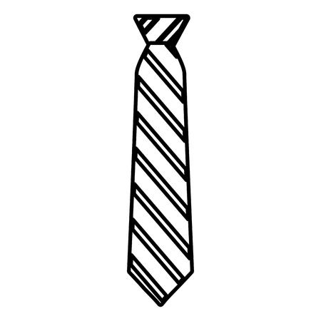striped necktie accessory fashion image vector illustration outline Illustration