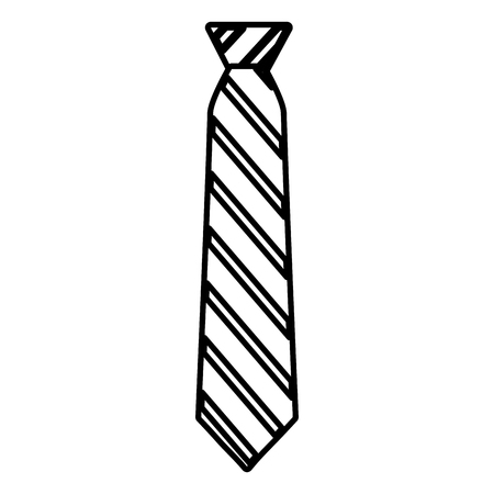 striped necktie accessory fashion image vector illustration outline Иллюстрация