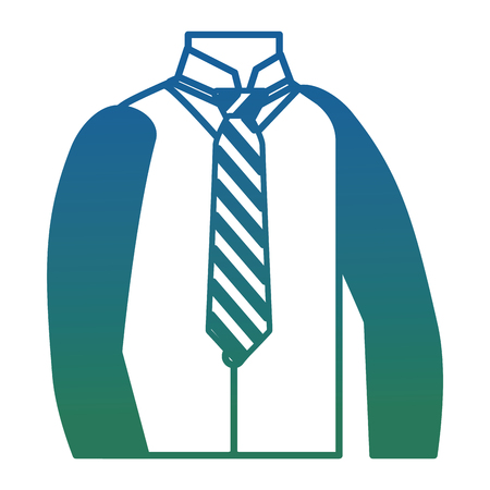 men clothes vest necktie and shirt elegance vector illustration degraded color