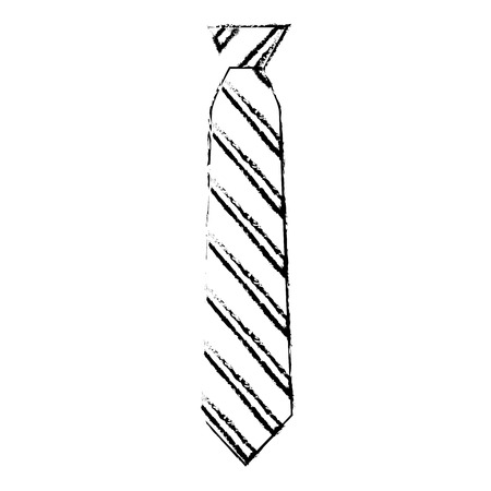 Striped necktie accessory fashion image vector illustration sketch