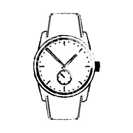Wrist watch time clock elegance image vector illustration sketch 向量圖像
