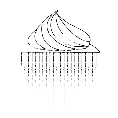 Sweet cupcake pastry tasty image vector illustration sketch