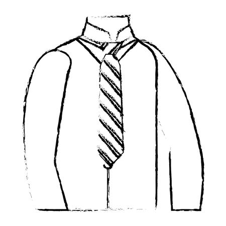 men clothes vest necktie and shirt elegance vector illustration sketch