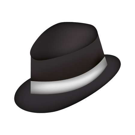elegant masculine hat icon vector illustration design  イラスト・ベクター素材
