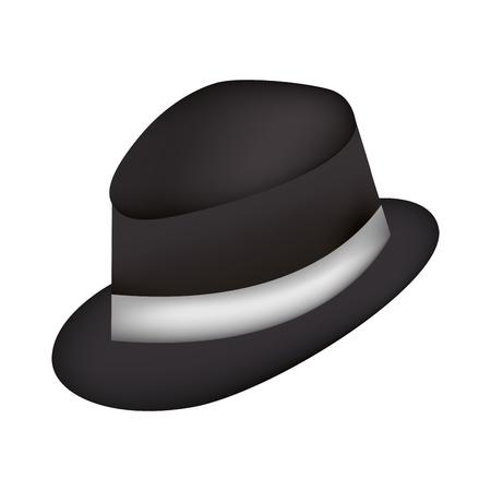 elegant masculine hat icon vector illustration design Illustration