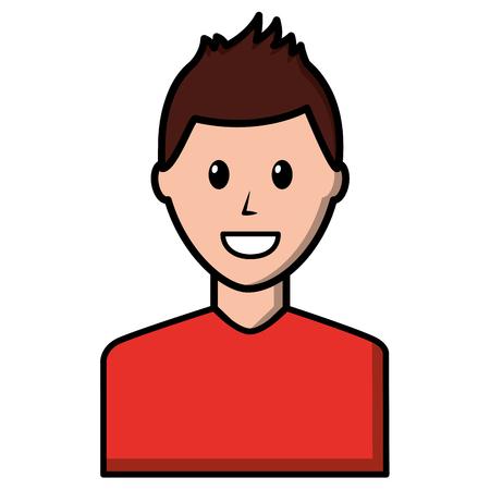 young man avatar character vector illustration design Foto de archivo - 99582129
