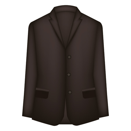 Elegant male jacket icon
